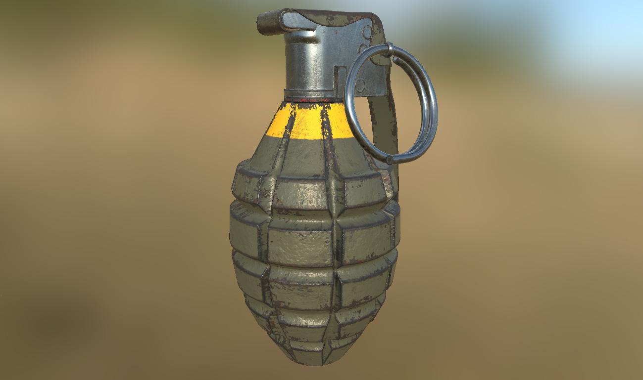 Searched 3d models for Mk 2 Grenade